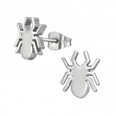 Spider - 316L Surgical Grade Stainless Steel Steel Ear Studs A4S5835