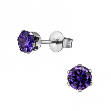 Round - 316L Surgical Grade Stainless Steel Steel Ear Studs A4S7195