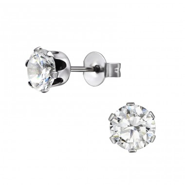 Round - 316L Surgical Grade Stainless Steel Steel Ear Studs A4S7196