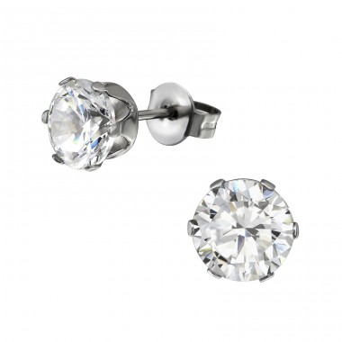 Round - 316L Surgical Grade Stainless Steel Steel Ear Studs A4S7197