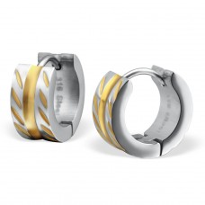 Patterned - 316L Surgical Grade Stainless Steel Steel Earrings A4S26605