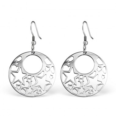 Filigree - 316L Surgical Grade Stainless Steel Steel Earrings A4S12957