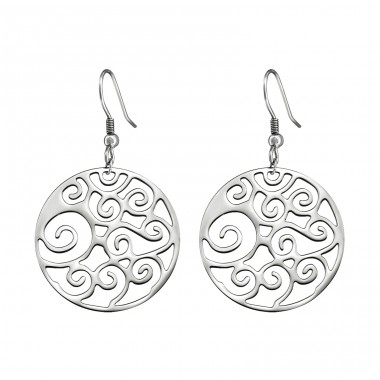 Filigree - 316L Surgical Grade Stainless Steel Steel Earrings A4S12959