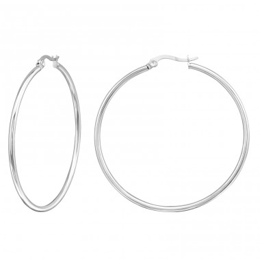 Hoops - 316L Surgical Grade Stainless Steel Steel Earrings A4S130