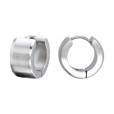 Hoops - 316L Surgical Grade Stainless Steel Steel Earrings A4S134
