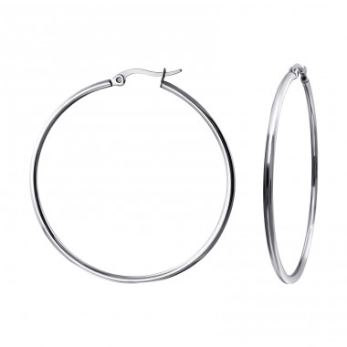 Hoops - 316L Surgical Grade Stainless Steel Steel Earrings A4S14485