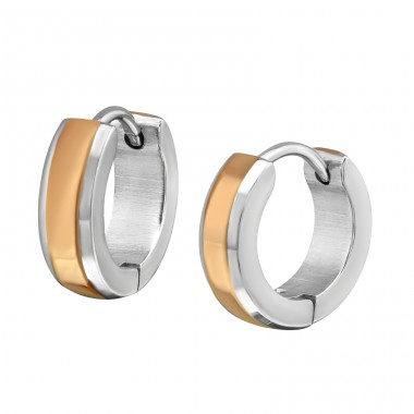 Bracket - 316L Surgical Grade Stainless Steel Steel Earrings A4S21894