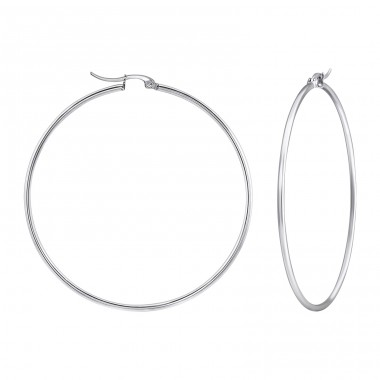 Round - 316L Surgical Grade Stainless Steel Steel Earrings A4S23549