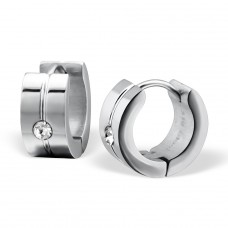 Round - 316L Surgical Grade Stainless Steel Steel Earrings A4S26571