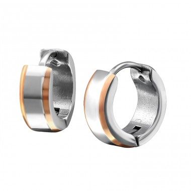 Round - 316L Surgical Grade Stainless Steel Steel Earrings A4S26583