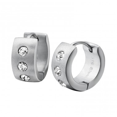 Round - 316L Surgical Grade Stainless Steel Steel Earrings A4S26584