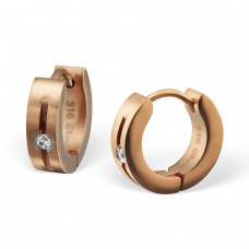 Round - 316L Surgical Grade Stainless Steel Steel Earrings A4S26602
