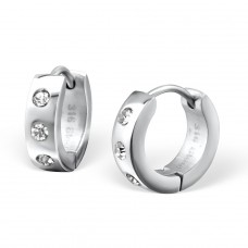 Round - 316L Surgical Grade Stainless Steel Steel Earrings A4S26603