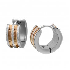 Sand - 316L Surgical Grade Stainless Steel Steel Earrings A4S26604