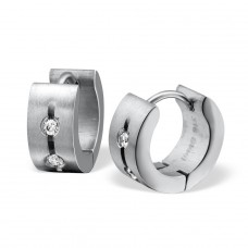 Round - 316L Surgical Grade Stainless Steel Steel Earrings A4S26606