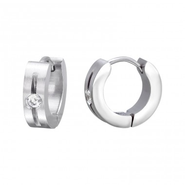 Round - 316L Surgical Grade Stainless Steel Steel Earrings A4S26609