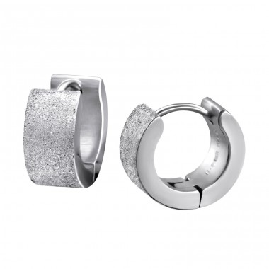 Sand - 316L Surgical Grade Stainless Steel Steel Earrings A4S26612