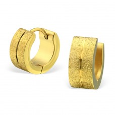 Sand - 316L Surgical Grade Stainless Steel Steel Earrings A4S28201