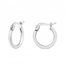 Round - 316L Surgical Grade Stainless Steel Steel Earrings A4S28548