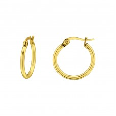 Round - 316L Surgical Grade Stainless Steel Steel Earrings A4S28550