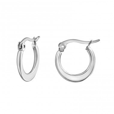 Flat - 316L Surgical Grade Stainless Steel Steel Earrings A4S28552