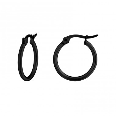 Round - 316L Surgical Grade Stainless Steel Steel Earrings A4S29143