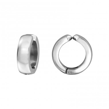 Round - 316L Surgical Grade Stainless Steel Steel Earrings A4S32609