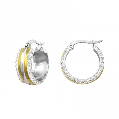 Hoop - 316L Surgical Grade Stainless Steel Steel Earrings A4S37826
