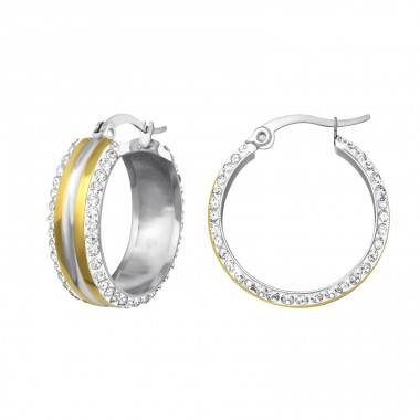 Hoop - 316L Surgical Grade Stainless Steel Steel Earrings A4S37827