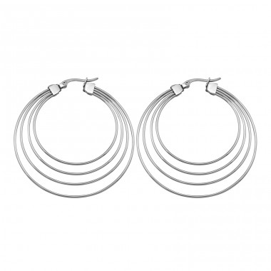 Hoops - 316L Surgical Grade Stainless Steel Steel Earrings A4S4946