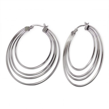 Hoops - 316L Surgical Grade Stainless Steel Steel Earrings A4S4947