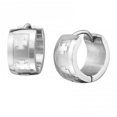 Wide - 316L Surgical Grade Stainless Steel Steel Earrings A4S705