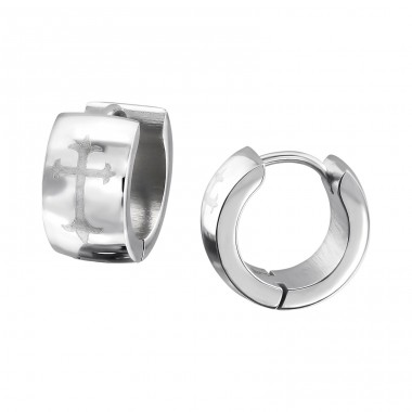 Hoops - 316L Surgical Grade Stainless Steel Steel Earrings A4S708