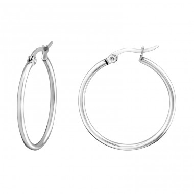 Hoops - 316L Surgical Grade Stainless Steel Steel Earrings A4S834