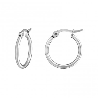 Hoops - 316L Surgical Grade Stainless Steel Steel Earrings A4S8353
