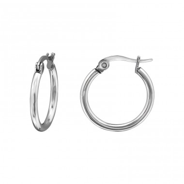 Hoops - 316L Surgical Grade Stainless Steel Steel Earrings A4S8354