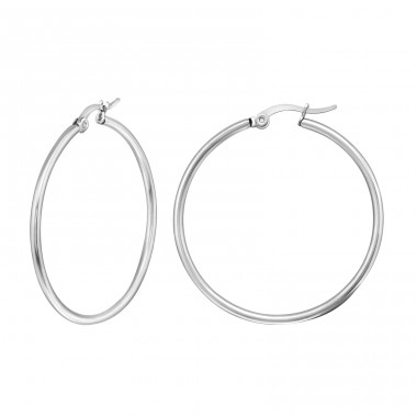 Classic Shape - 316L Surgical Grade Stainless Steel Steel Earrings A4S8355