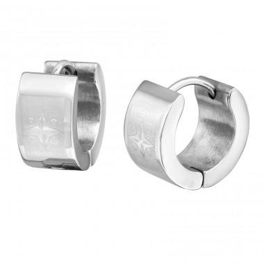 Hoops - 316L Surgical Grade Stainless Steel Steel Earrings A4S9053