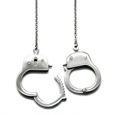 Handcuffs - 316L Surgical Grade Stainless Steel Steel Necklaces A4S12192