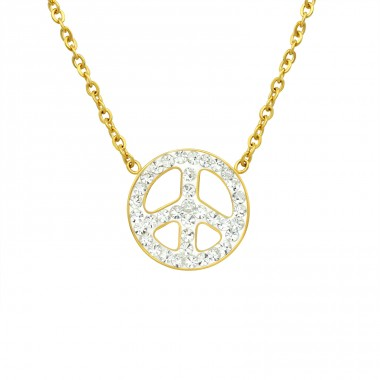 Peace - 316L Surgical Grade Stainless Steel Steel Necklaces A4S14644