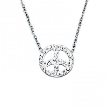 Peace - 316L Surgical Grade Stainless Steel Steel Necklaces A4S14712
