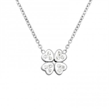Clover - 316L Surgical Grade Stainless Steel Steel Necklaces A4S14713