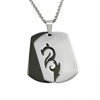 Dragon - 316L Surgical Grade Stainless Steel Steel Necklaces A4S20903