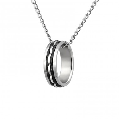 Ring - 316L Surgical Grade Stainless Steel Steel Necklaces A4S23551