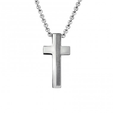 Cross - 316L Surgical Grade Stainless Steel Steel Necklaces A4S27998