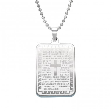 Tag - 316L Surgical Grade Stainless Steel Steel Necklaces A4S28400