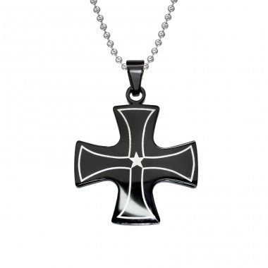 Cross - 316L Surgical Grade Stainless Steel Steel Necklaces A4S28410