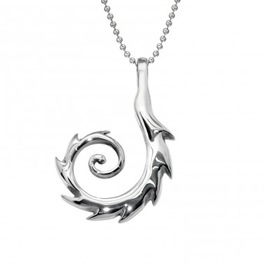 Spiral - 316L Surgical Grade Stainless Steel Steel Necklaces A4S28414