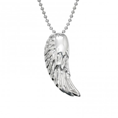 Wing - 316L Surgical Grade Stainless Steel Steel Necklaces A4S28415