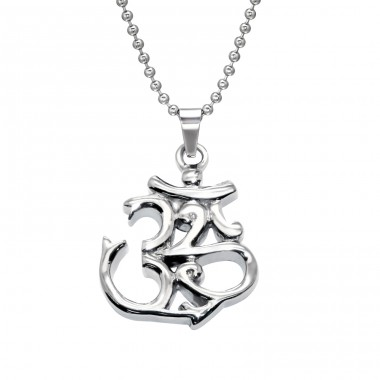 Om Symbol - 316L Surgical Grade Stainless Steel Steel Necklaces A4S28416